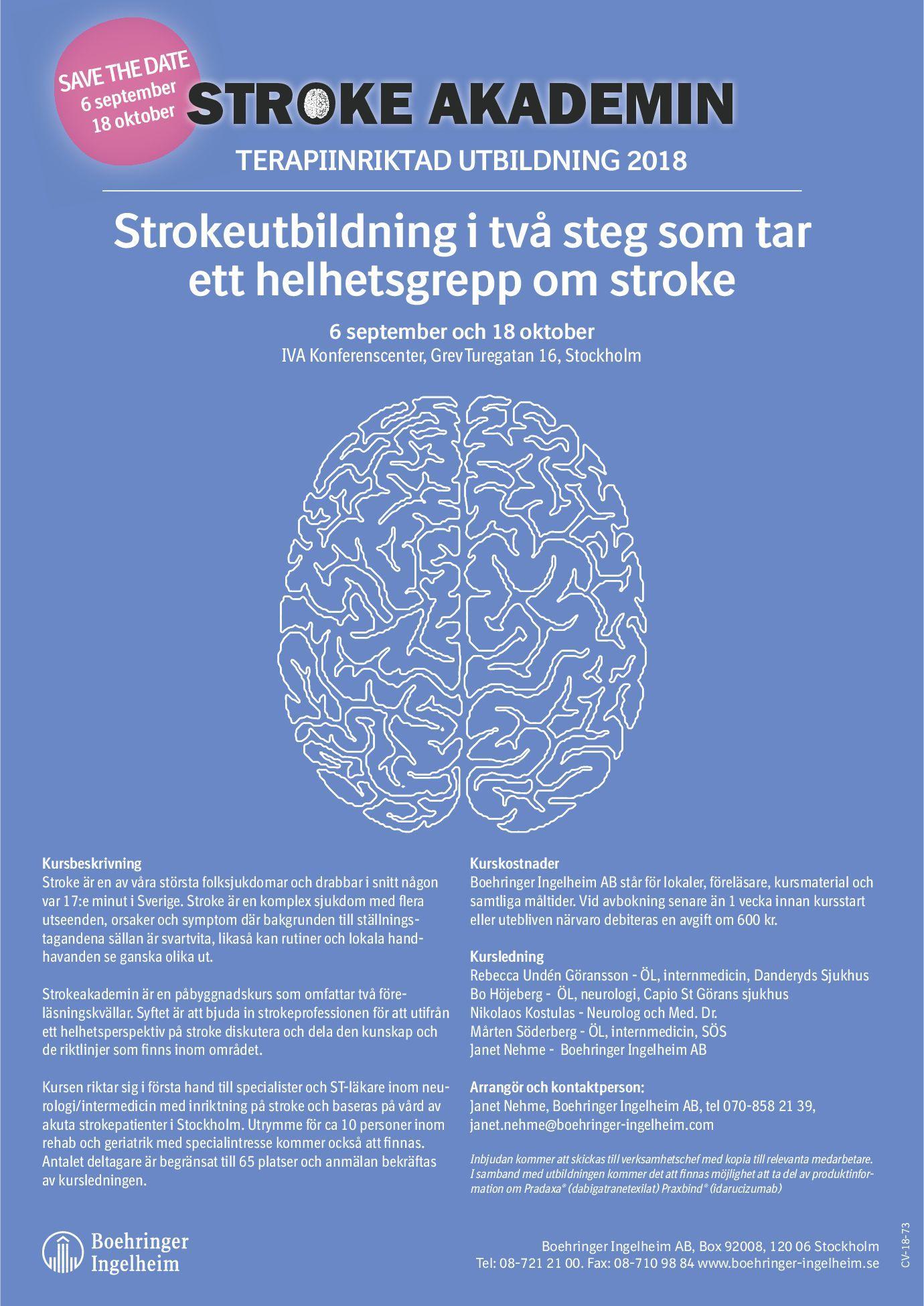 symtom för stroke